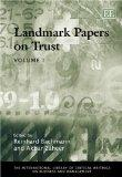 Landmark Papers on Trust (The International Library of Critical Writings on Business and Man...