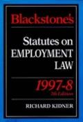 Blackstone's Statutes on Employment Law, 1997-98