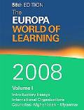 Europa World of Learning 2008