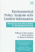 Environmental Policy Analysis With Limited Information Principles and Applications of the Tr...