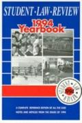 Student Law Review, 1994 Yearbook