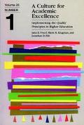 Culture for Academic Excellence Implementing the Quality Principles in Higher Education