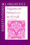 Argument Structure in Hindi
