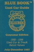 Kelley Blue Book Used Car Guide: Consumer Edition, Covers 1982-1996 Cars, Vans, and Trucks, ...
