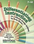 Differentiating Instruction in a Whole