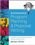 Grantsmanship : Program Planning and Proposal Writing