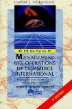 management des operations de commerce international