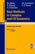 Real Methods In Complex And Cr Geometry Lectures Given At The C.i.m.e. Summer School Held In...