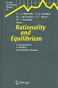 Rationality And Equilibrium A Symposium in Honor of Marcel K Richter
