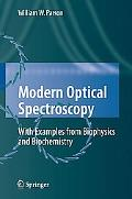 Modern Optical Spectroscopy With Examples from Biophysics and Biochemistrry