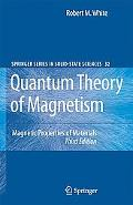 Quantum Theory of Magnetism Magnetic Properties of Materials