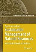 Sustainable Management of Natural Resources: Mathematical Models and Methods