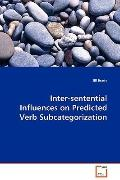 Inter-Sentential Influences On Predicted Verb Subcategorization