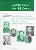 Mathematics of the 19th Century Function Theory According to Chebyshev, Ordinary Differentia...
