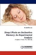 Sleep Effects on Declarative Memory : An Experimental Analysis
