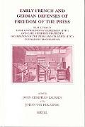 Early French and German Defenses of Freedom of the Press Elie Luzac's Essay on Freedom of Ex...