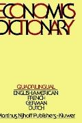Quadrilingual Economics Dictionary - Frits J. Jong - Hardcover