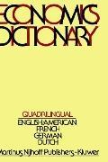 Quadrilingual Economics Dictionary - Frits J. Jong - Hardcover