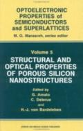 Structural and Optical Properties of Porous Silicon Nanostructures