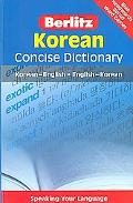 Korean Berlitz Concise Dictionary