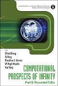 Computational Prospects of Infinity, Part II: Presented Talks, Vol. 2