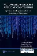 Automated Database Applications Testing: Specification Representation for Automated Reasonin...