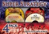 Super Strategy 4 Pack Age of Empires Gold Civilization II Risk II and Majesty Fantasy Kingdo...