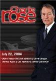 Charlie Rose with Dan Bartlett & David Sanger; Thomas Kean & Lee Hamilton; Jeffrey Gettleman...