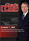 Charlie Rose with Richard Curtis, Hugh Grant, Emma Thompson & Laura Linney; Jeffrey Loria (N...