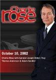 Charlie Rose with Senator Joseph Biden; Paul Thomas Anderson & Adam Sandler (October 10, 2002)