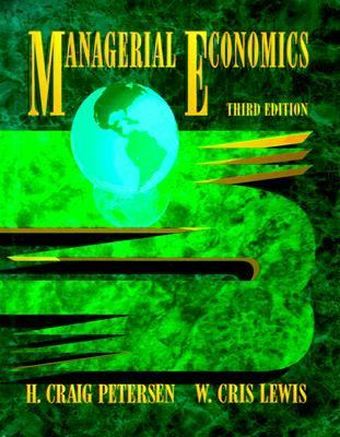 managerial economics h craig petersen solutions
