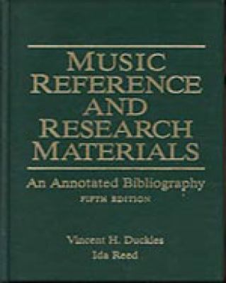 Music Reference and Research Materials An Annotated Bibliography