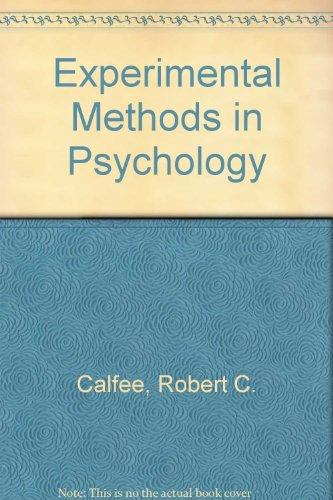 Experimental Methods in Psychology