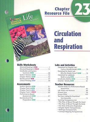 Holt Science and Technology: Life Science: Circulation and Respiration