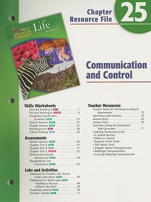 Holt Science and Technology: Life Science: Communication and Control