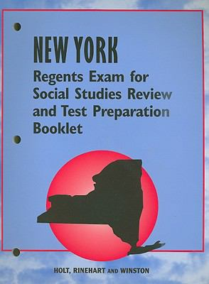 New York Regents Exam for Social Studies Review and Test Preparation Booklet