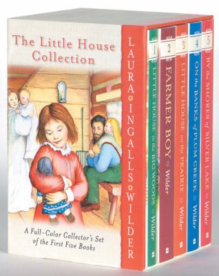 Little House Collection A Full-Color Collector's Set of the First Five Books Little House in the Big Woods, Farmer Boy, Little House on the Prairie, On the Banks of Plum Cre