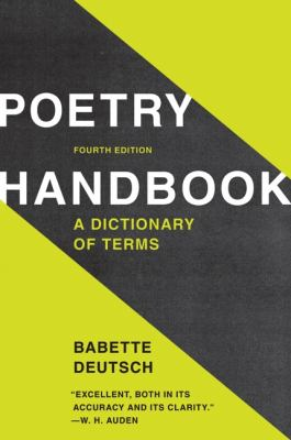 Poetry Handbook A Dictionary of Terms