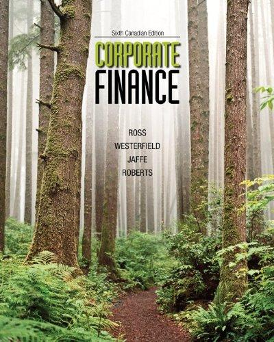 Corporate Finance with Connect Access Card, Sixth Canadian Edition [Hardcover]