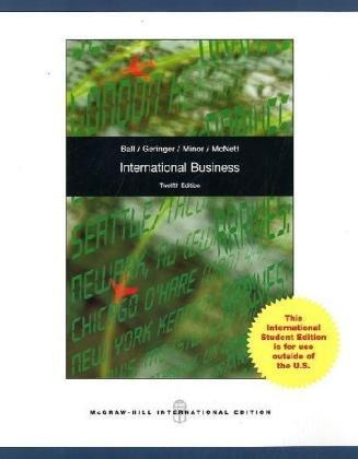 International Business: The Challenge of Global Competition (International Edition)