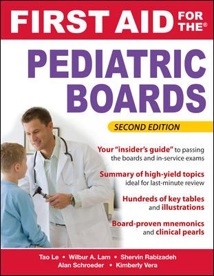 First Aid for the Pediatric Boards, Second Edition (FIRST AID Specialty Boards)