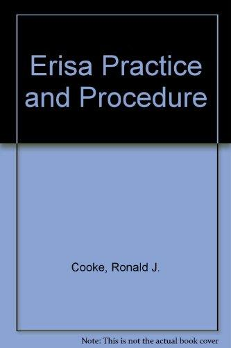 Erisa Practice and Procedure (Regulatory manual series)