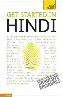 Get Started in Hindi: A Teach Yourself Guide