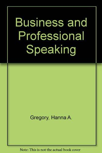 Business and Professional Speaking