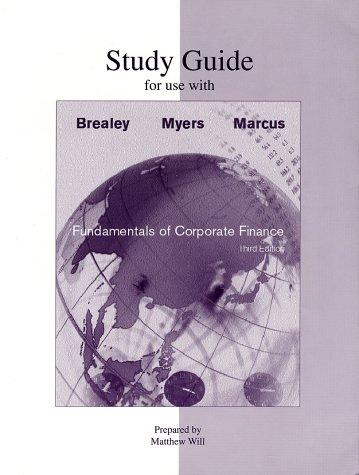 Study Guide to accompany Fundamentals of Corporate Finance