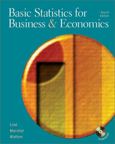 Basic Statistics for Business and Economics (Mcgraw-Hill/Irwin Series Operations and Decision Sciences)