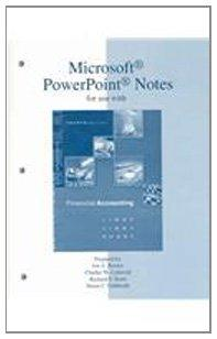 Microsoft PowerPoint Notes t/a Financial Accounting