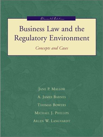 Business Law and the Regulatory Environment with Powerweb