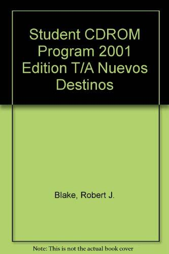 Student CDROM Program 2001 Edition T/A Nuevos Destinos (Spanish Edition)