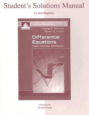 Differential Equations Theory, Technique And Practice